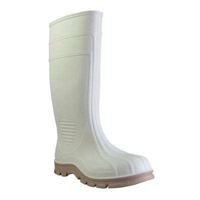 Men's Size 7 White Economy Jumbo Shrimp Steel Toe PVC Boot