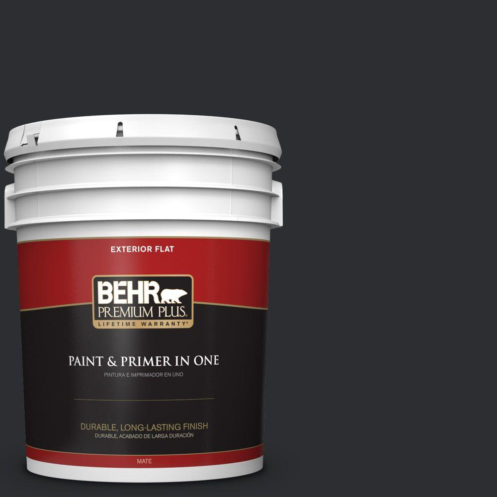 behr exterior paint home depot. BEHR Premium Plus 5-gal. #ECC-10-2 Jet Black Flat Exterior Paint-430005 - The Home Depot Behr Paint I
