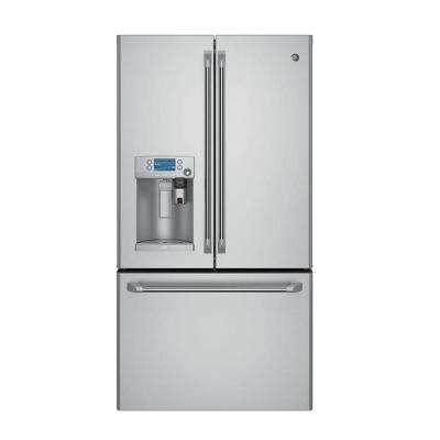 36 in. W 27.8 cu. ft. Smart French Door Refrigerator with Keurig K-Cup and WiFi in Stainless Steel