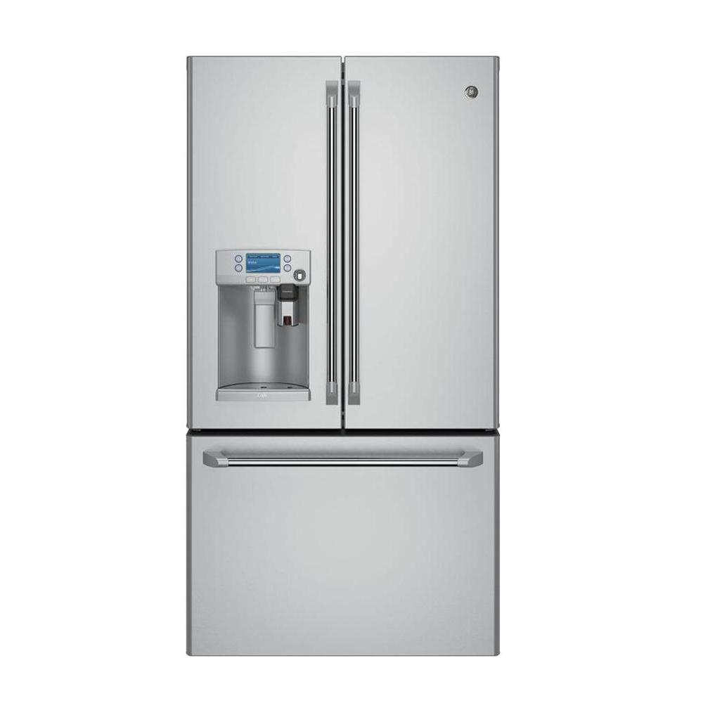 Cafe 36 In. W 27.8 Cu. Ft. Smart French Door Refrigerator With Keurig