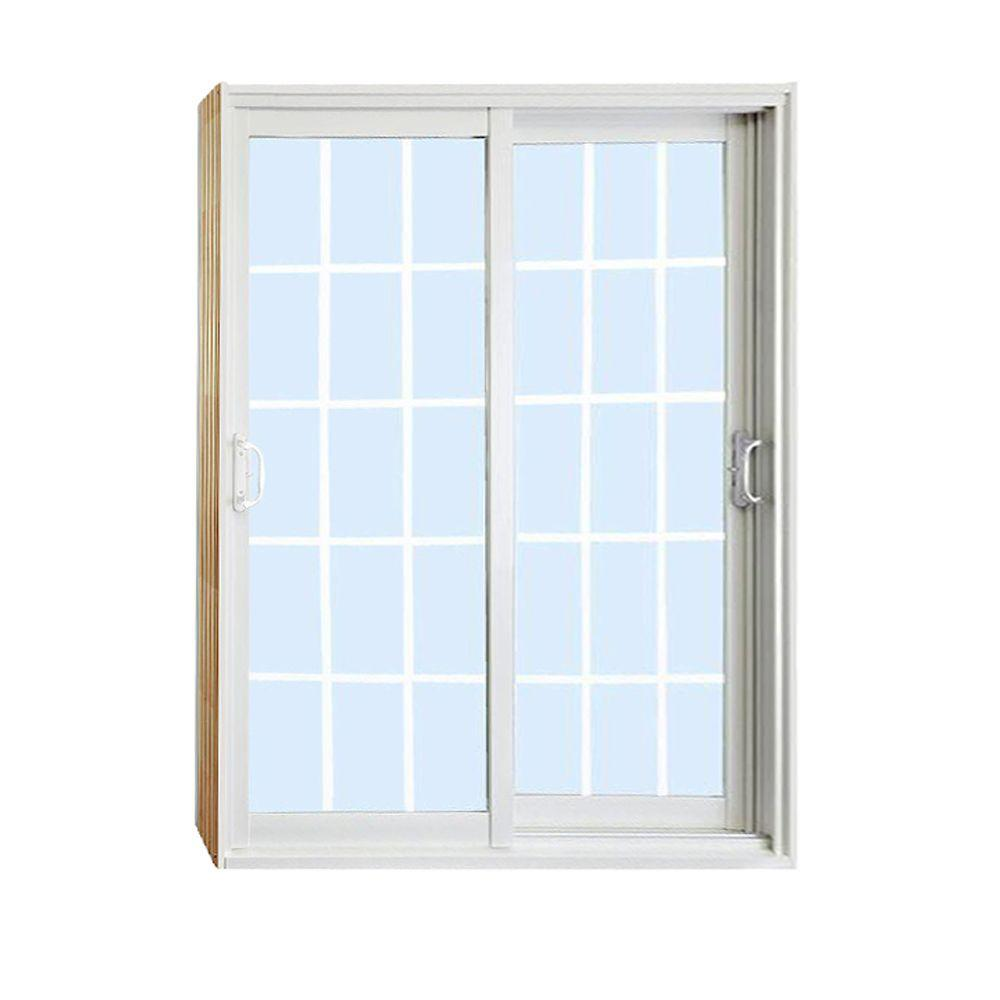stanley doors 72 in x 80 in double sliding patio door with 15 lite - Double Sliding Patio Doors