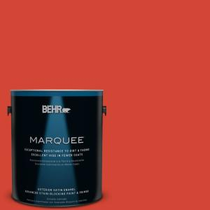 1-gal. #S-G-190 Red Hot Satin Enamel Exterior Paint