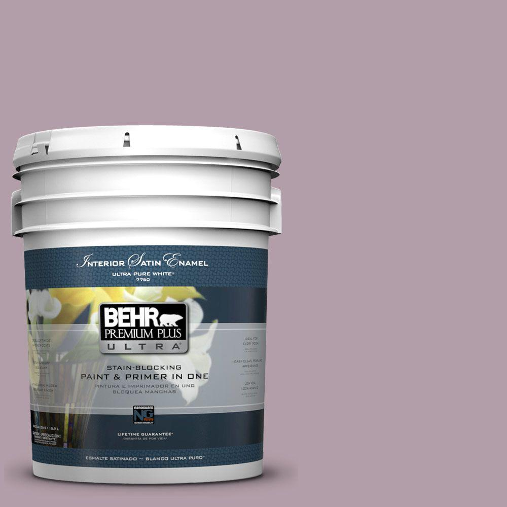 5 gal. #PMD-34 Wild Lilac Satin Enamel Interior Paint and Primer