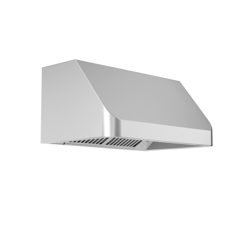 Zline Kitchen And Bath 42 In 1200 Cfm Under Cabinet Range Hood Stainless Steel