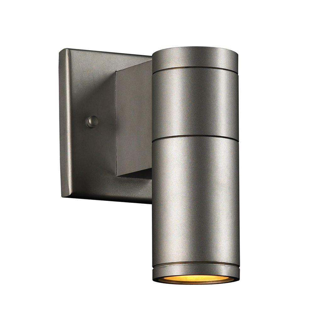 luminance architectural exterior 2 light black wall sconce f6902 31 the home depot. Black Bedroom Furniture Sets. Home Design Ideas
