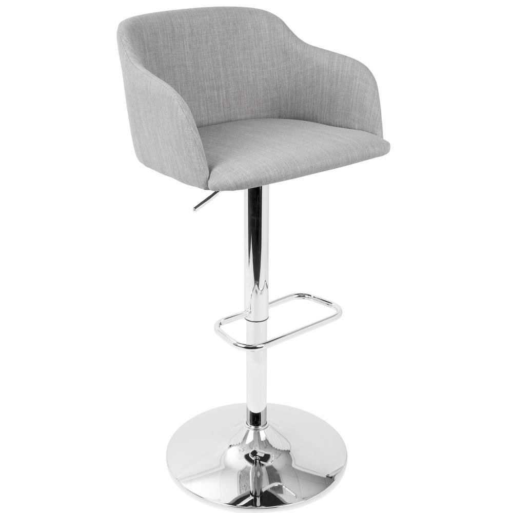 Lumisource Daniella Light Grey Adjule Barstool