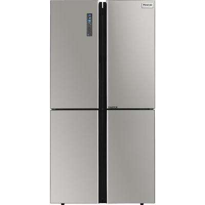 36 in. 22.6 cu. ft French Door Freestanding Refrigerator in Gray with Ice Maker