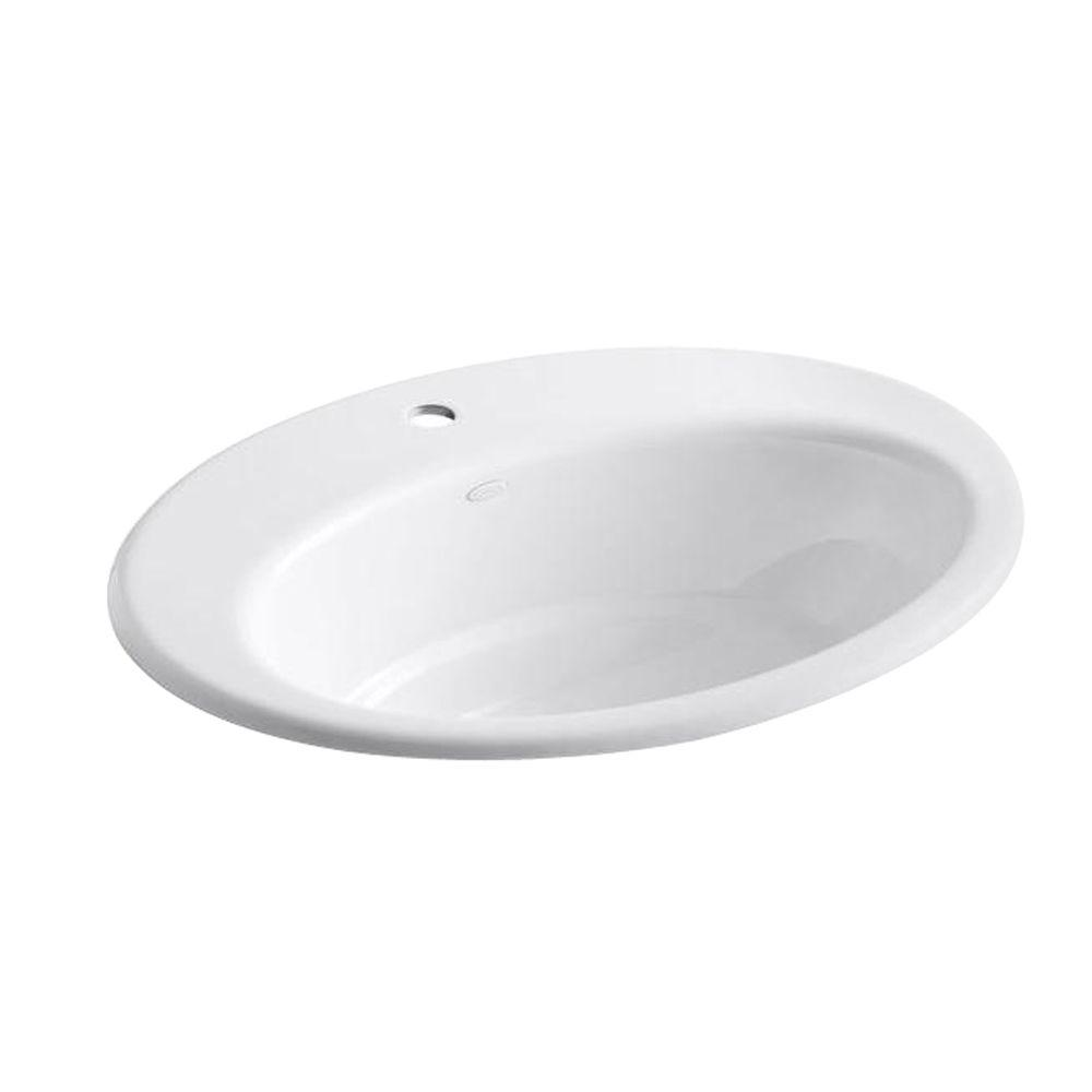 KOHLER Thoreau Self-Rimming Bathroom Sink in White