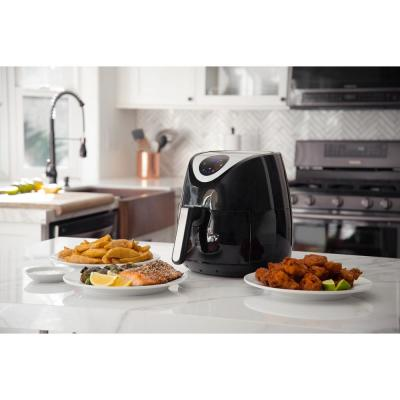 3.7 Qt. Digital Air Fryer Healthy Cooking and Dishwasher Safe Basket with Free Recipe Book - Black