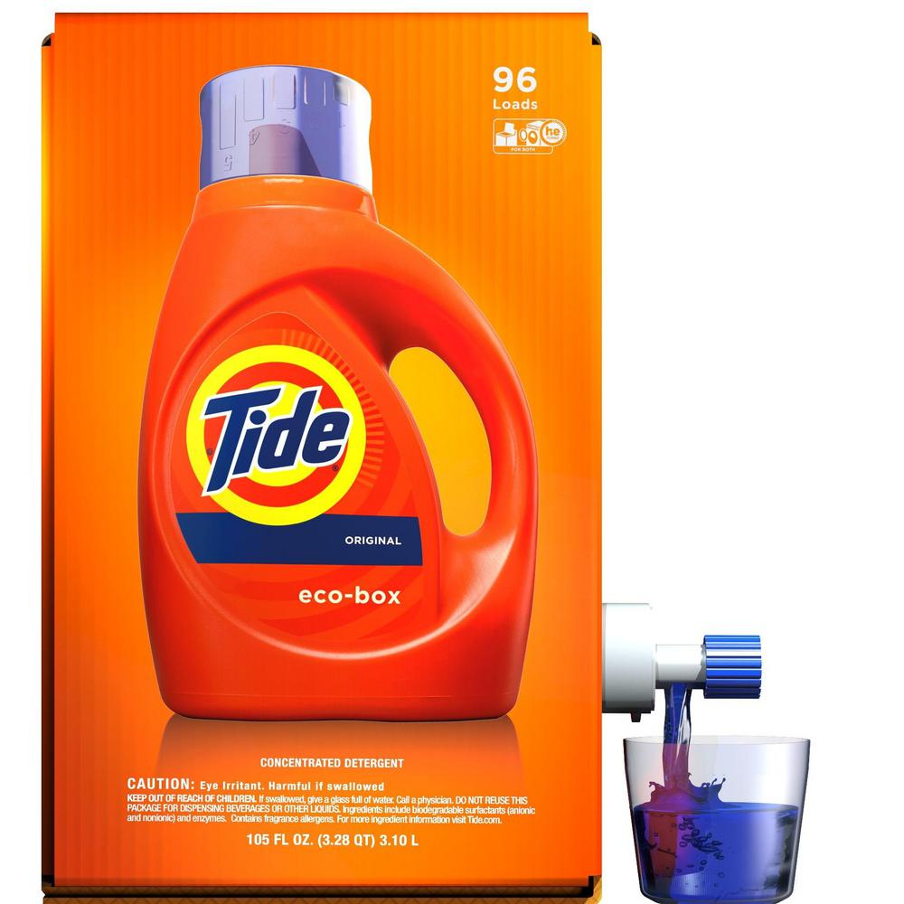Tide 105 oz Original Scent HE Liquid Laundry Detergent Eco-Box (96 Loads)