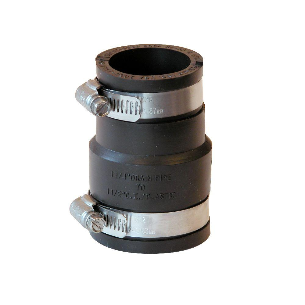 1-1/2 in. x 1-1/4 in. DWV Flexible PVC Coupling