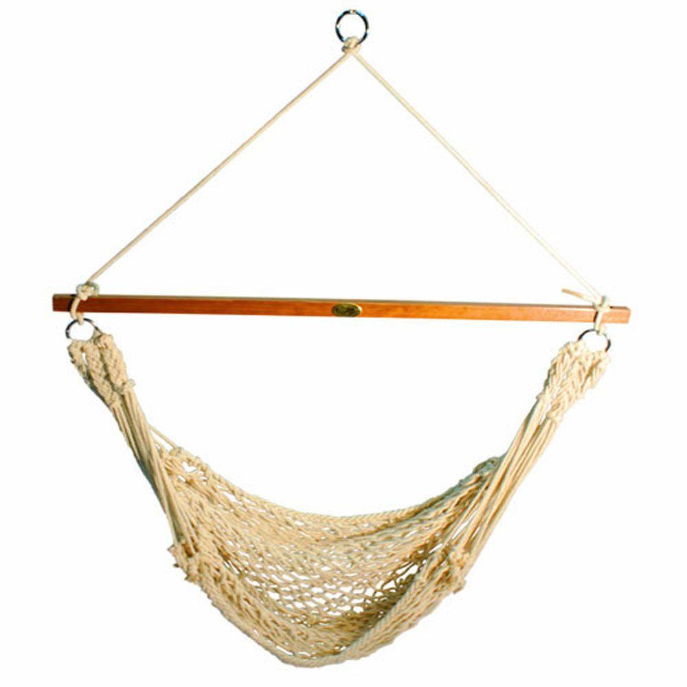 cotton rope hanging chair algoma 4 ft  cotton rope hanging chair 6817   the home depot  rh   homedepot