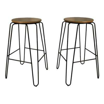Ethan 29 in. Maple Stacking Stool (Set of 2)