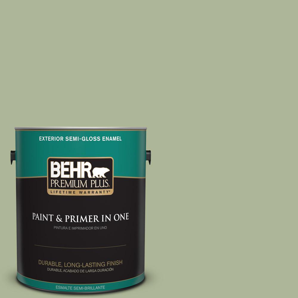1 gal. #PPU11-08 Moss Print Semi-Gloss Enamel Exterior Paint