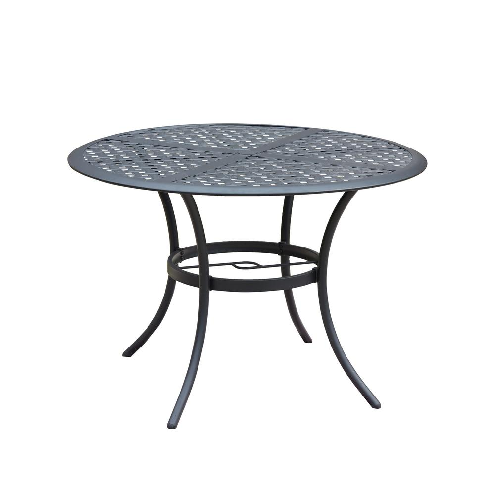 Large Round Metal Outdoor Dining Table