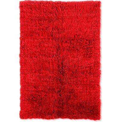 New Flokati Red 2 ft. x 9 ft. Area Rug