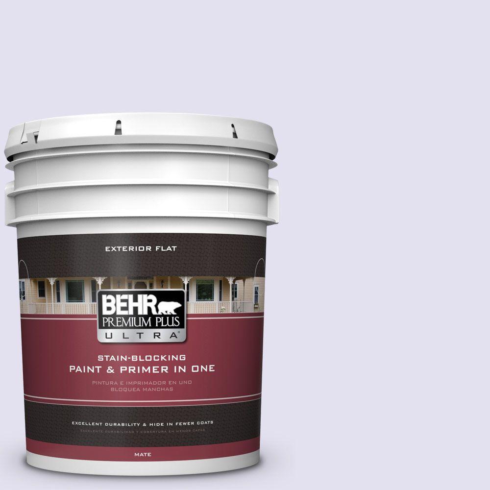 BEHR Premium Plus Ultra 5-gal. #P560-1 Blissful Flat Exterior Paint
