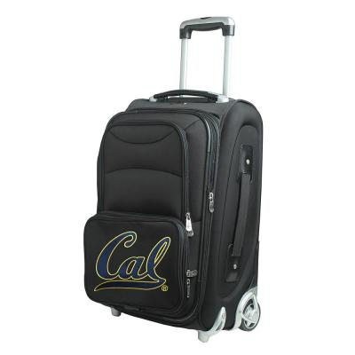Denco NCAA Berkeley 21 in. Black Carry-On Rolling Softside Suitcase