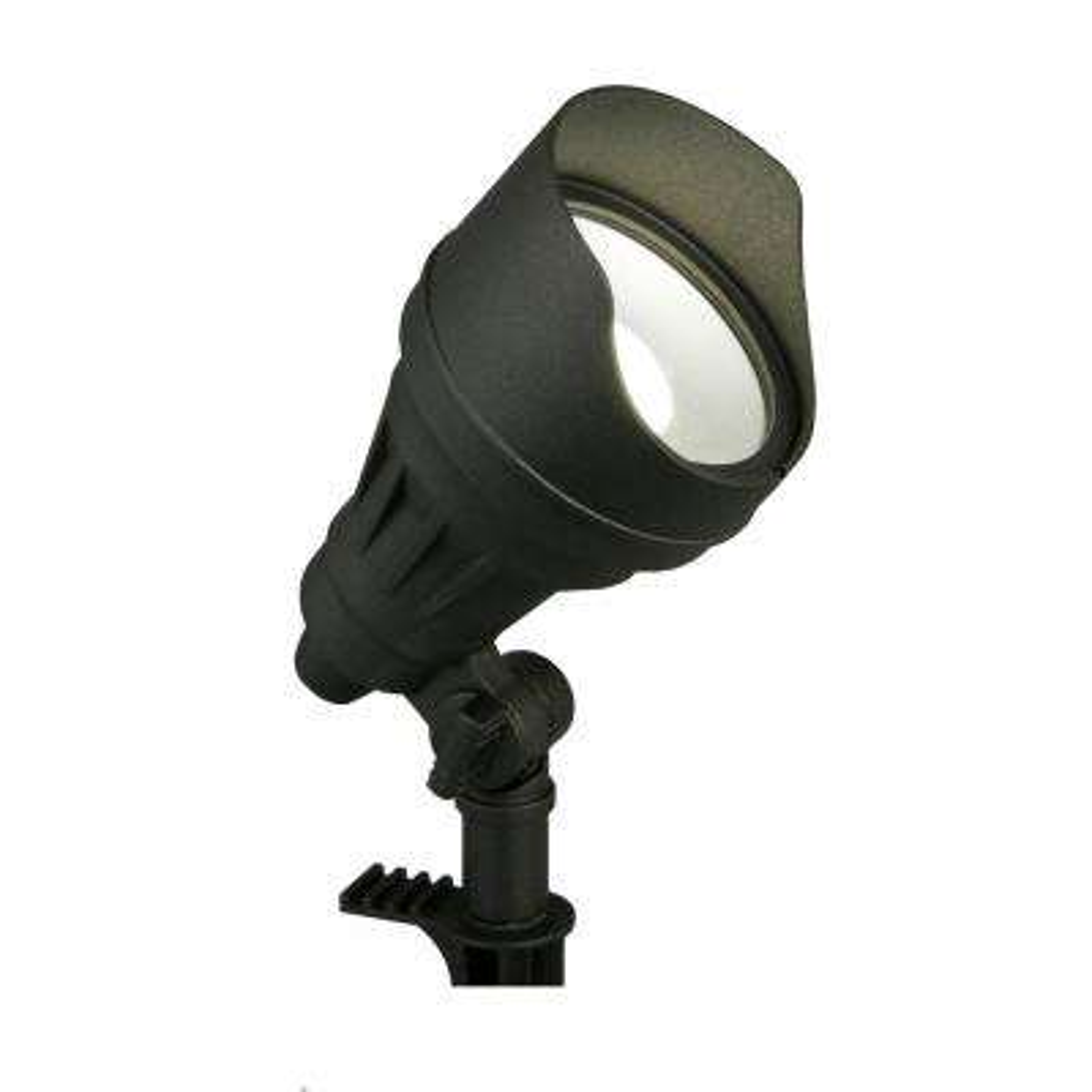 17-Watt Millennium Black Adjustable Light Color Outdoor Integrated LED Landscape Flood Light