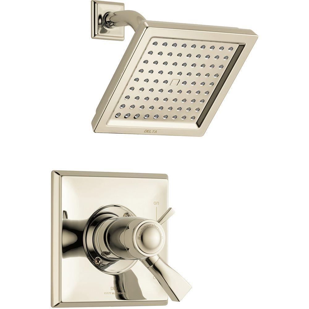 Delta Dryden TempAssure 17T Series 1 Handle Shower Faucet Trim Kit Only In Polished  Nickel