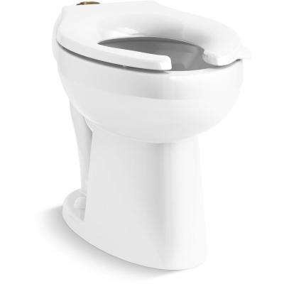 Highcliff Elongated Ultra ADA-Height Flushometer Toilet Bowl Only with Top Spud in White