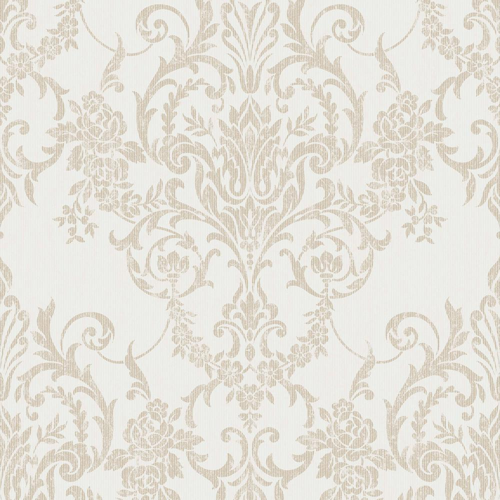 Graham & Brown Empress Victorian Damask Gold Removable Wallpaper Sample
