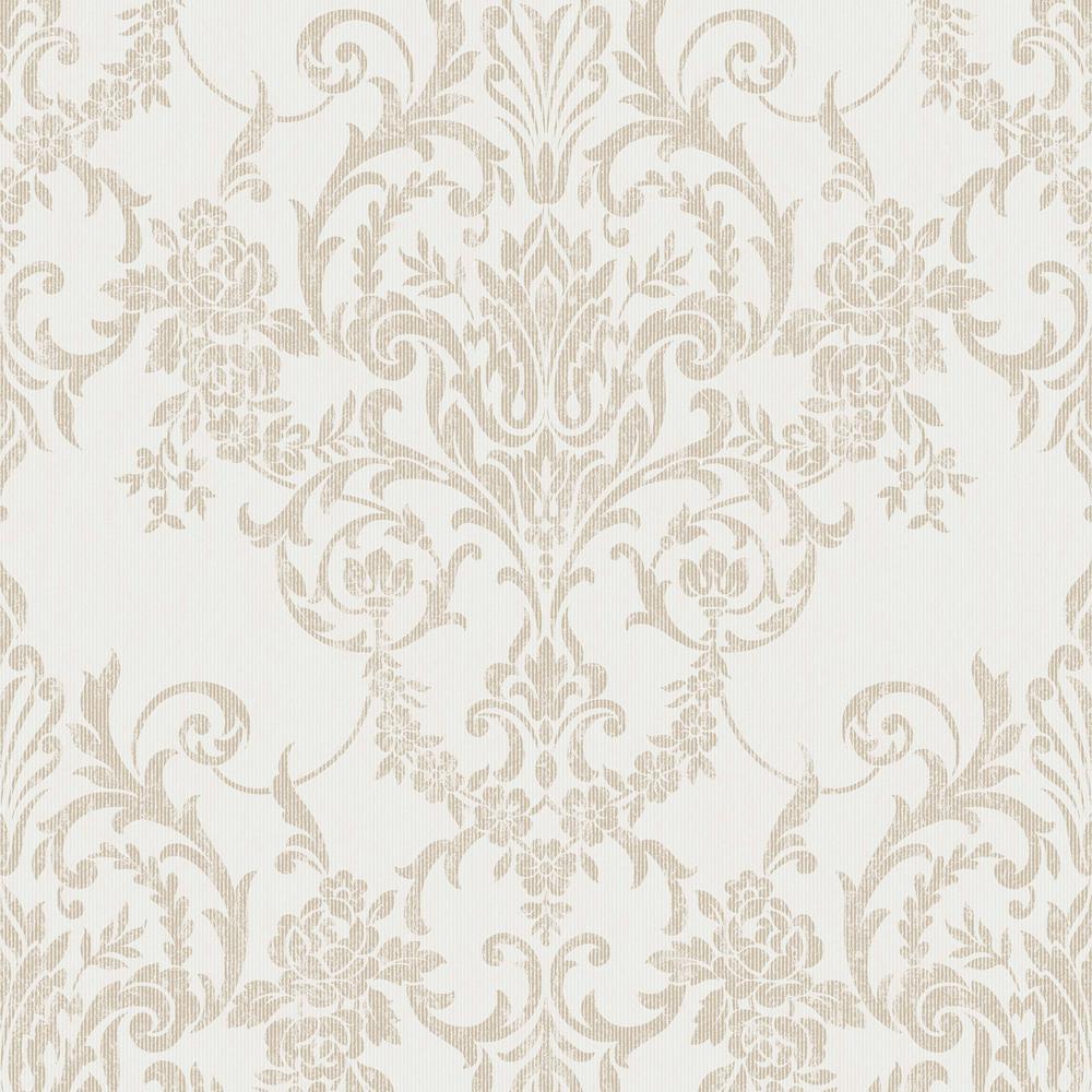 Empress Victorian Damask Gold Removable Wallpaper Sample