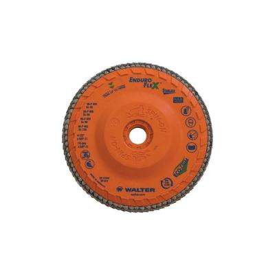 ENDURO-FLEX Stainless 4.5 in. x 5/8-11 in. Arbor GR120, Blending Flap Disc (10-Pack)