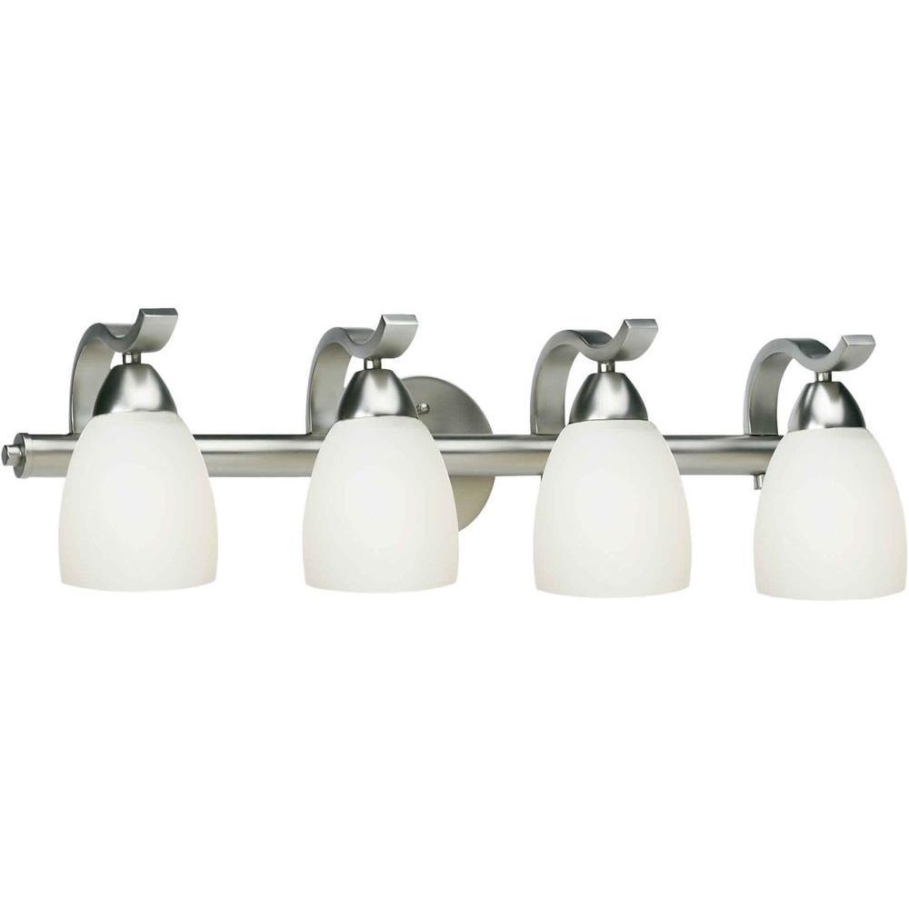 Lucy Burton 4-Light Brushed Nickel Bath Vanity Light