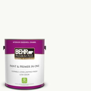 1 gal. Ultra Pure White Eggshell Enamel Low Odor Interior Paint and Primer in One