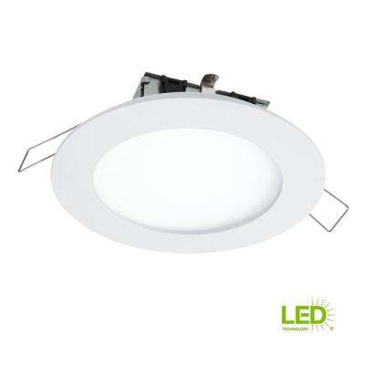 SMD-DM 4.85 in. Lens White Round Integrated LED Surface Mount Recessed Ceiling Light, 3000K Soft White, (No Can Needed)