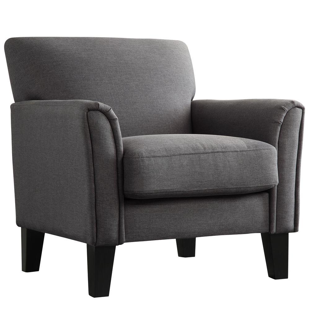 Comfy Accent Chair With Blanket: Comfortable Arm Chair, Charcoal HomeSullivan Durham Gray