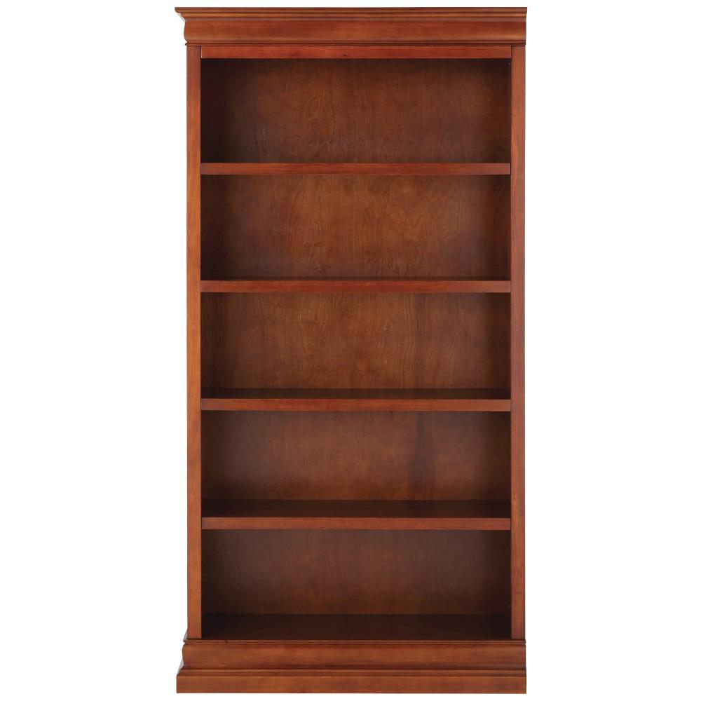 Louis Philippe Modular Left Sequoia Open Bookcase