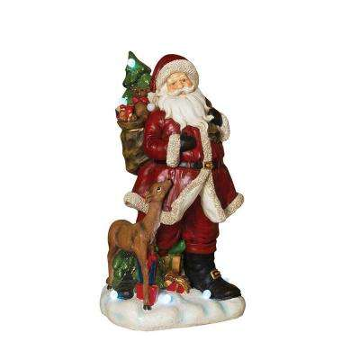 22.8 in. H Battery Operated Musical Santa Figurine