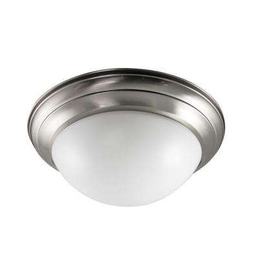 Max Lite 2-Light Nickel Fluorescent Flushmount