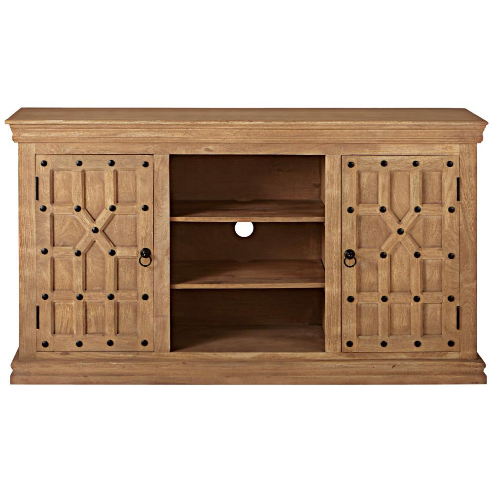 Reeves Sandblasted Natural Storage Entertainment Center