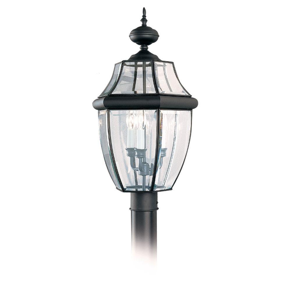 Sea gull lighting lancaster 3 light outdoor black post top