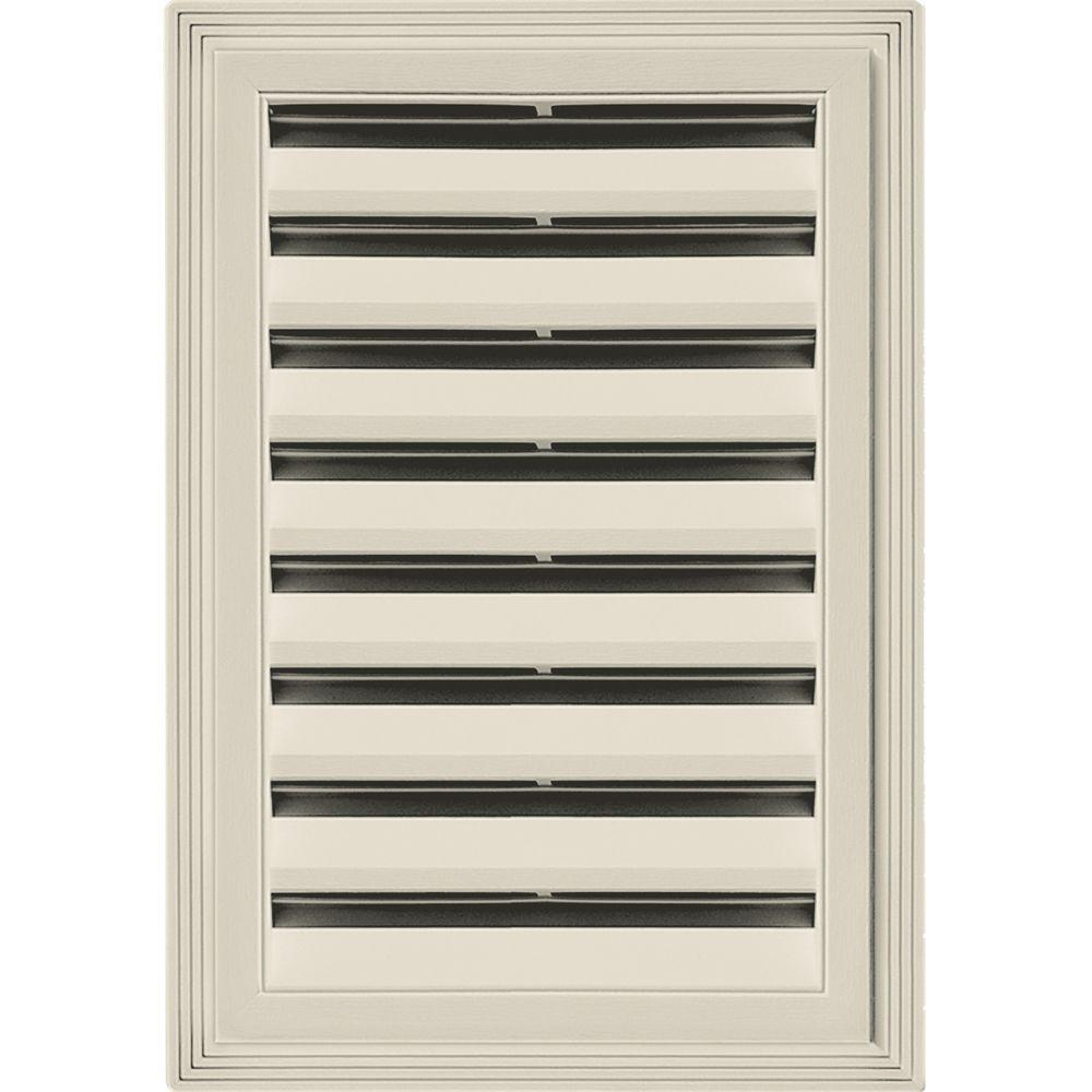 12 in. x 18 in. Rectangle Gable Vent #089 Champagne