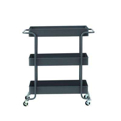 Steel Wide Open Cart in Grey
