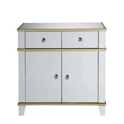 Osma Mirrored and Gold Console Table