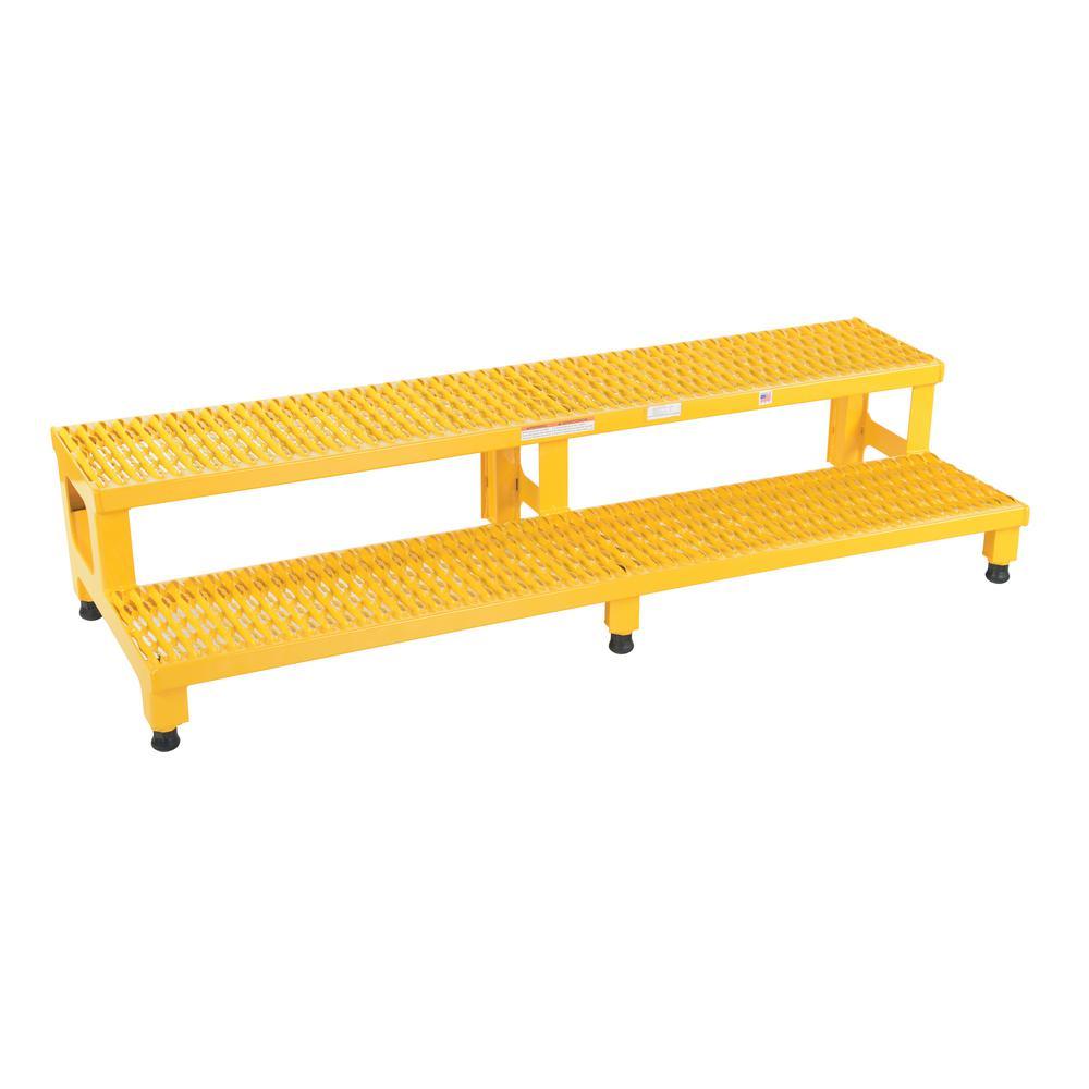 Vestil 60 inch x 23 inch 2-Step Adjustable Step Stand by Vestil