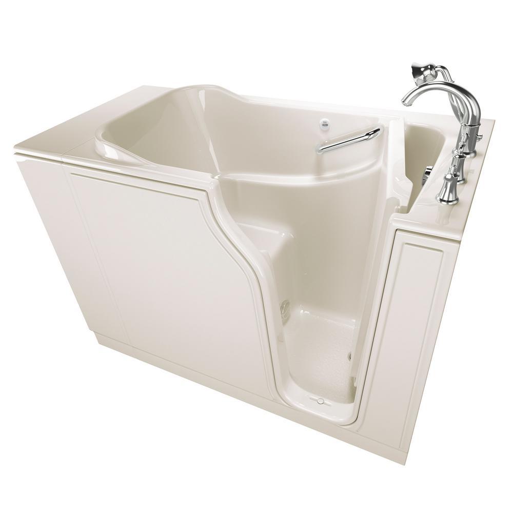 American Standard Gelcoat Value Series 52 in. Right Hand Walk-In Soaking Tub in Linen