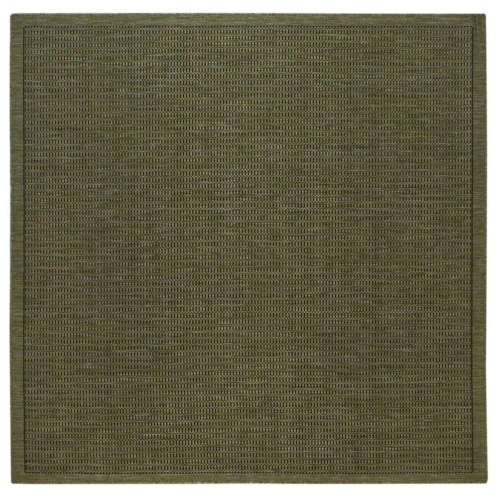 Home Decorators Collection Saddlestitch Green/Black 8 ft. 6 in. Square Area Rug