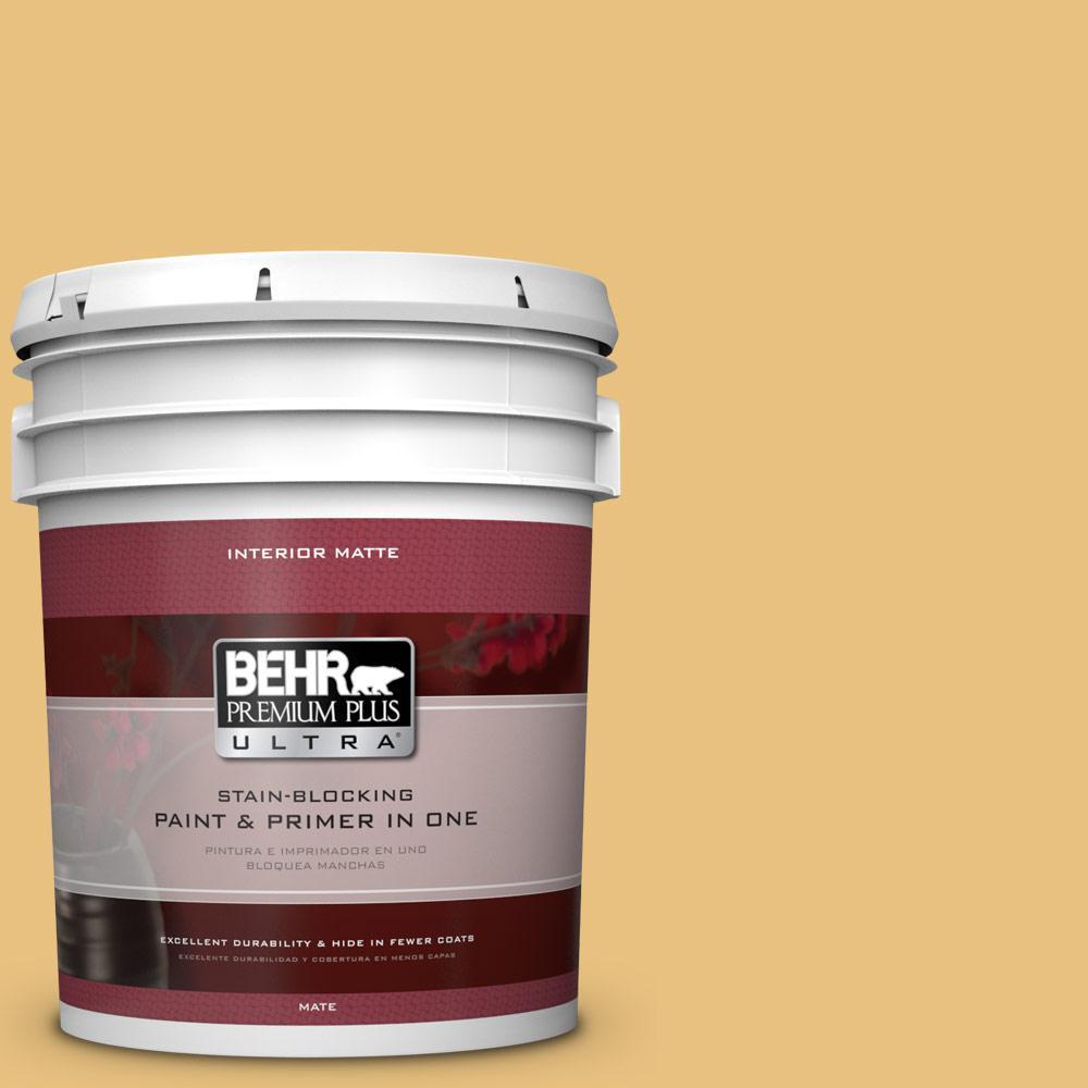 5 gal. #340D-4 Honey Bear Flat/Matte Interior Paint
