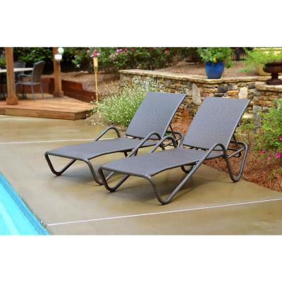 Fiji Wicker Outdoor Chaise Lounge (2-Pack)