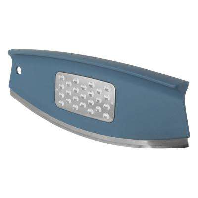 Leo Collection Blue Rocking Pizza Slicer and Grater