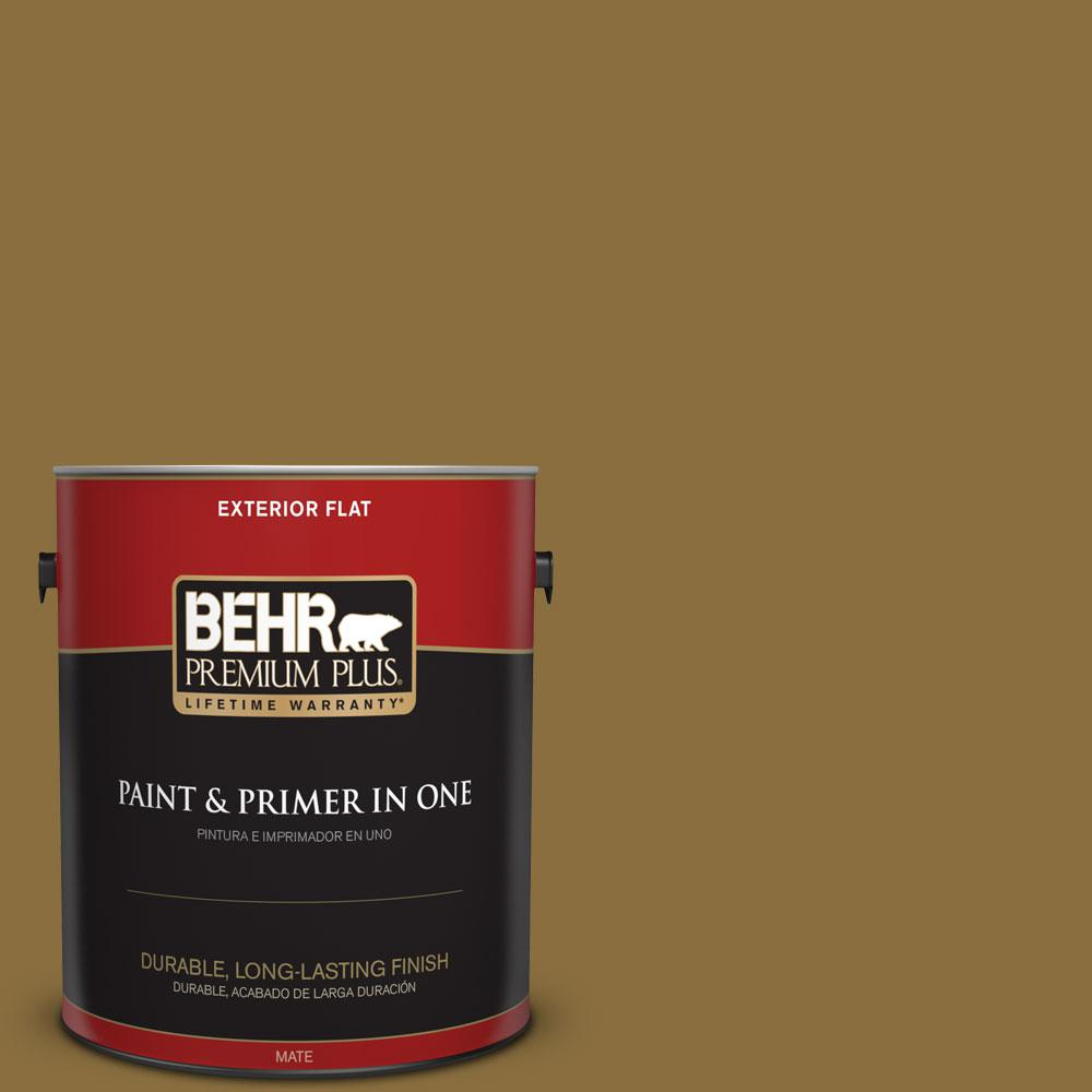 1-gal. #S310-7 Siam Gold Flat Exterior Paint