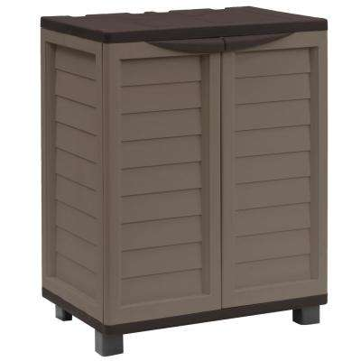 2 ft. 5.5 in. x 1 ft. 8 in. x 3 ft. Plastic Mocha/Brown Storage Cabinet with 2 Shelves
