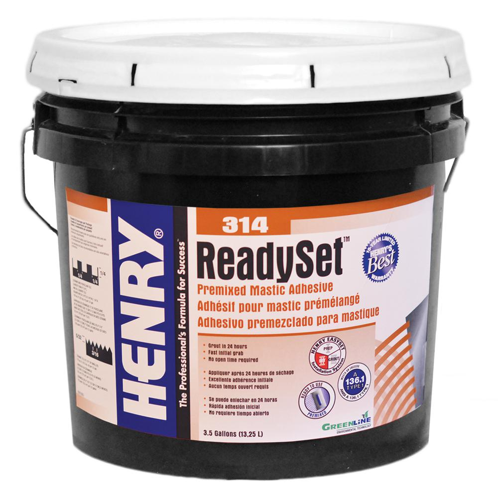 Henry 314 Ready Set 35 Gal Premixed Mastic Adhesive 12257 The