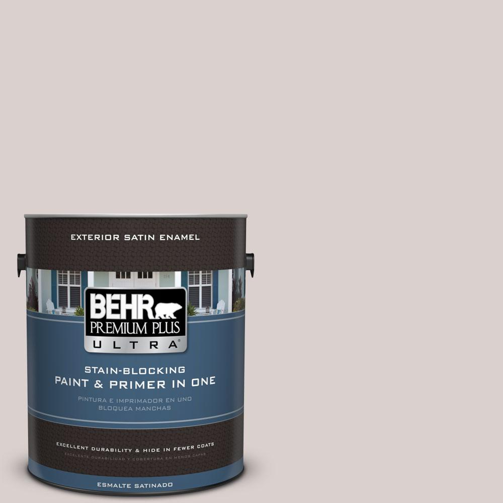 BEHR Premium Plus Ultra 1-gal. #780A-2 Smoked Oyster Satin Enamel Exterior Paint